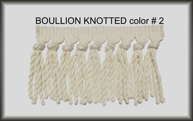 Turkish Boullion Knotted Rug Fringe