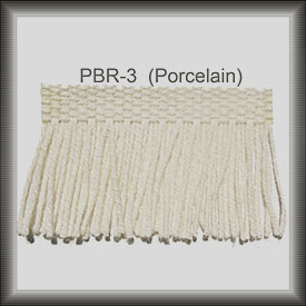 Porcelain fringe for rug repair from The Fringe Factory
